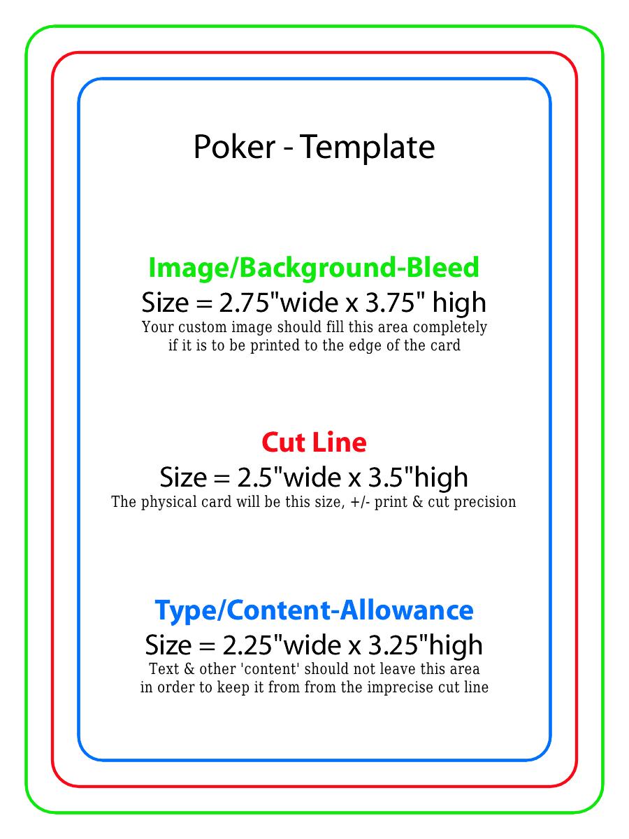 Playing card template maxwellsz